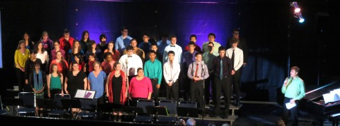The choir started the night off with an upbeat religious hymn called, Be Thou My Vision