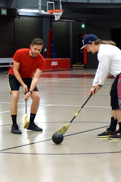 A twist on ice hockey