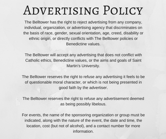 Advertising Policy | The Belltower