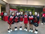 cheerleaders at admitted students day