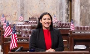 Senator McCoy with staff; January 26th, 2018