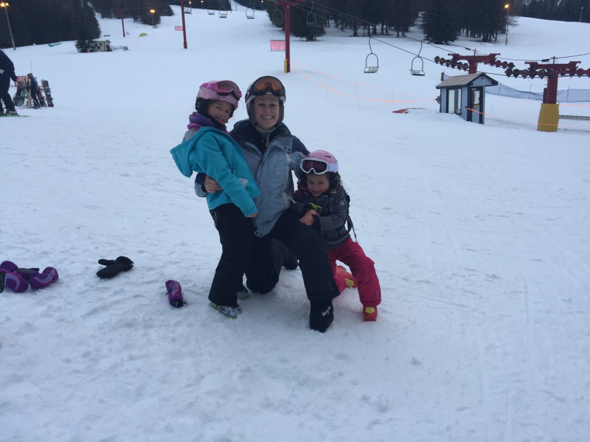 This is probably the best recent shot of my with my daughters while we were skiing over Christmas. (1)